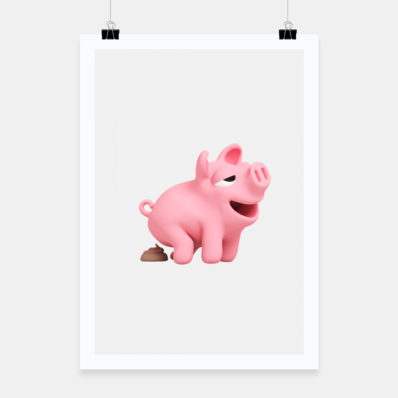 Image of Rosa the Pig Poops Poster - Live Heroes