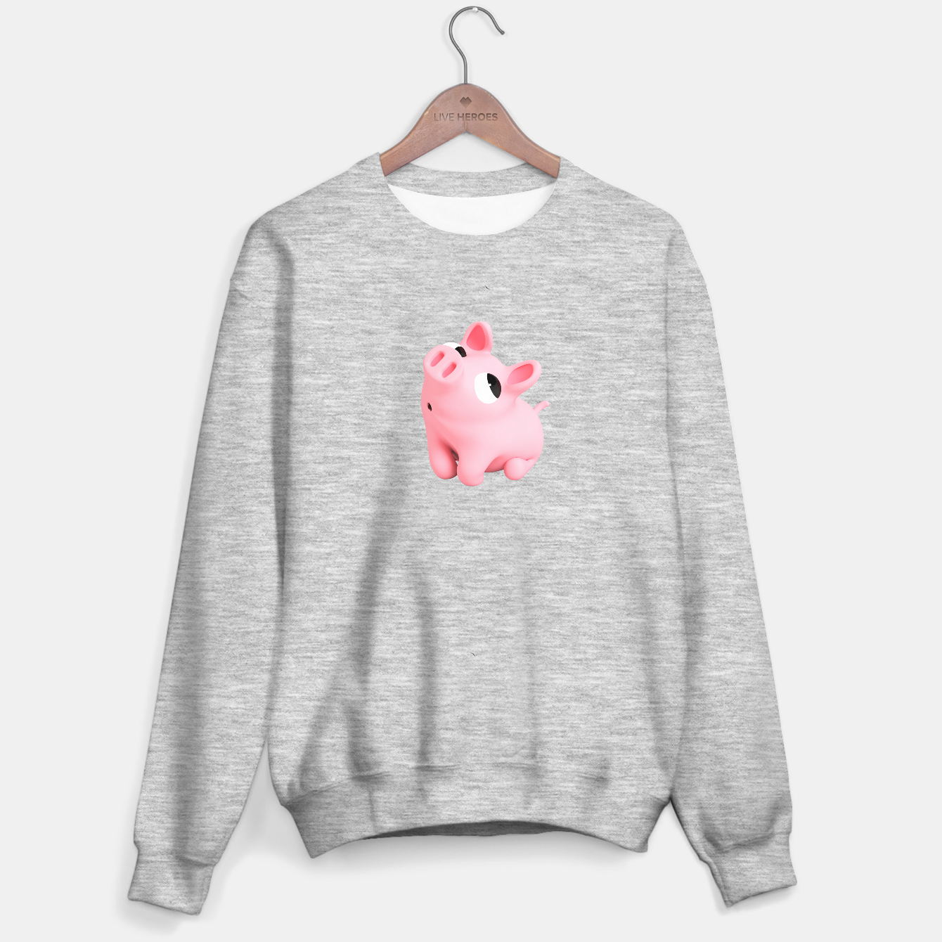Image of Rosa the Pig Shy Big Sweater regular - Live Heroes