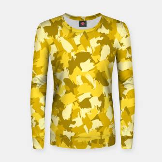Thumbnail image of Painterly Camo in Sunshine Women sweater, Live Heroes