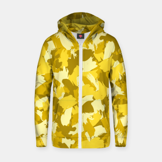 Thumbnail image of Painterly Camo in Sunshine Zip up hoodie, Live Heroes