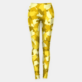 Thumbnail image of Painterly Camo in Sunshine Leggings, Live Heroes