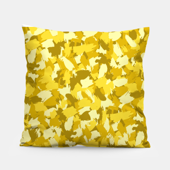 Thumbnail image of Painterly Camo in Sunshine Pillow, Live Heroes