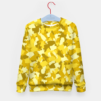 Thumbnail image of Painterly Camo in Sunshine Kid's sweater, Live Heroes