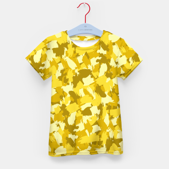 Thumbnail image of Painterly Camo in Sunshine Kid's t-shirt, Live Heroes