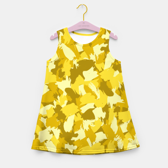 Thumbnail image of Painterly Camo in Sunshine Girl's summer dress, Live Heroes