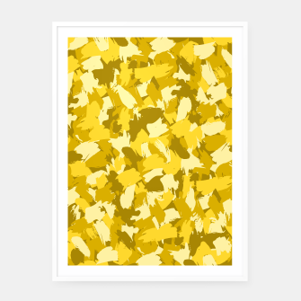 Miniatur Painterly Camo in Sunshine Framed poster, Live Heroes