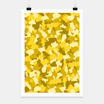 Miniatur Painterly Camo in Sunshine Poster, Live Heroes