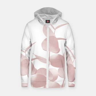 Thumbnail image of Eucalyptus Leaves Blush White #1 #foliage #decor #art Reißverschluss kapuzenpullover, Live Heroes