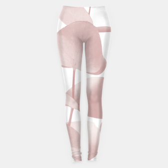Thumbnail image of Eucalyptus Leaves Blush White #1 #foliage #decor #art Leggings, Live Heroes