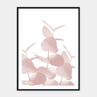 Thumbnail image of Eucalyptus Leaves Blush White #1 #foliage #decor #art Plakat mit rahmen, Live Heroes