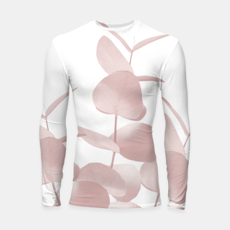 Thumbnail image of Eucalyptus Leaves Blush White #1 #foliage #decor #art Longsleeve rashguard, Live Heroes