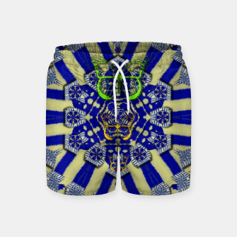 Miniatur Wood flower and matches with butterflies Swim Shorts, Live Heroes