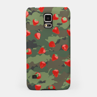 Miniaturka Kawaii Strawberry Camo WOODLAND Samsung Case, Live Heroes