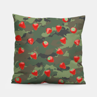 Miniaturka Kawaii Strawberry Camo WOODLAND Pillow, Live Heroes