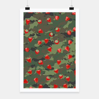 Miniaturka Kawaii Strawberry Camo WOODLAND Poster, Live Heroes