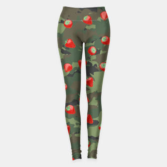 Miniaturka Kawaii Strawberry Camo WOODLAND Leggings, Live Heroes