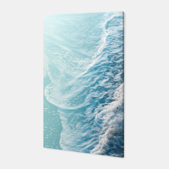 Thumbnail image of Soft Turquoise Ocean Dream Waves #1 #water #decor #art  Canvas, Live Heroes