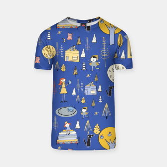 Thumbnail image of Wonderland Fairy Tale Blue T-shirt, Live Heroes