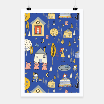 Thumbnail image of Wonderland Fairy Tale Blue Poster, Live Heroes