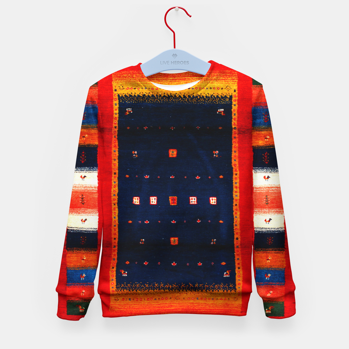 Image of Heritage Traditional Bohemian Moroccan Artwork  Kid's sweater - Live Heroes