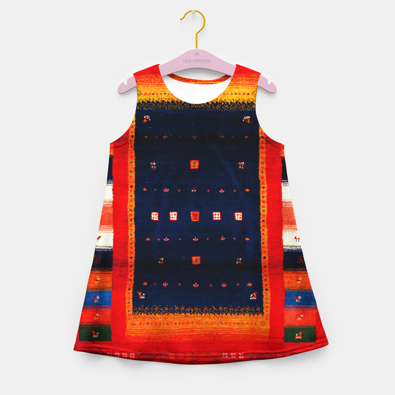 Image of Heritage Traditional Bohemian Moroccan Artwork  Girl's summer dress - Live Heroes