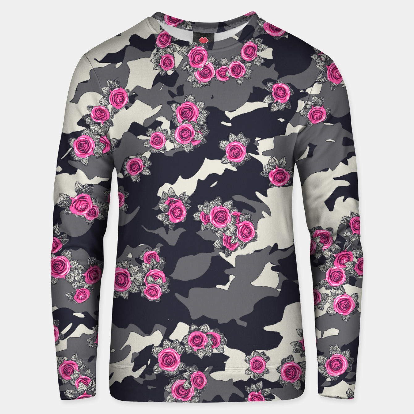 Foto Roses Pink Camo URBAN VINTAGE Unisex sweater - Live Heroes