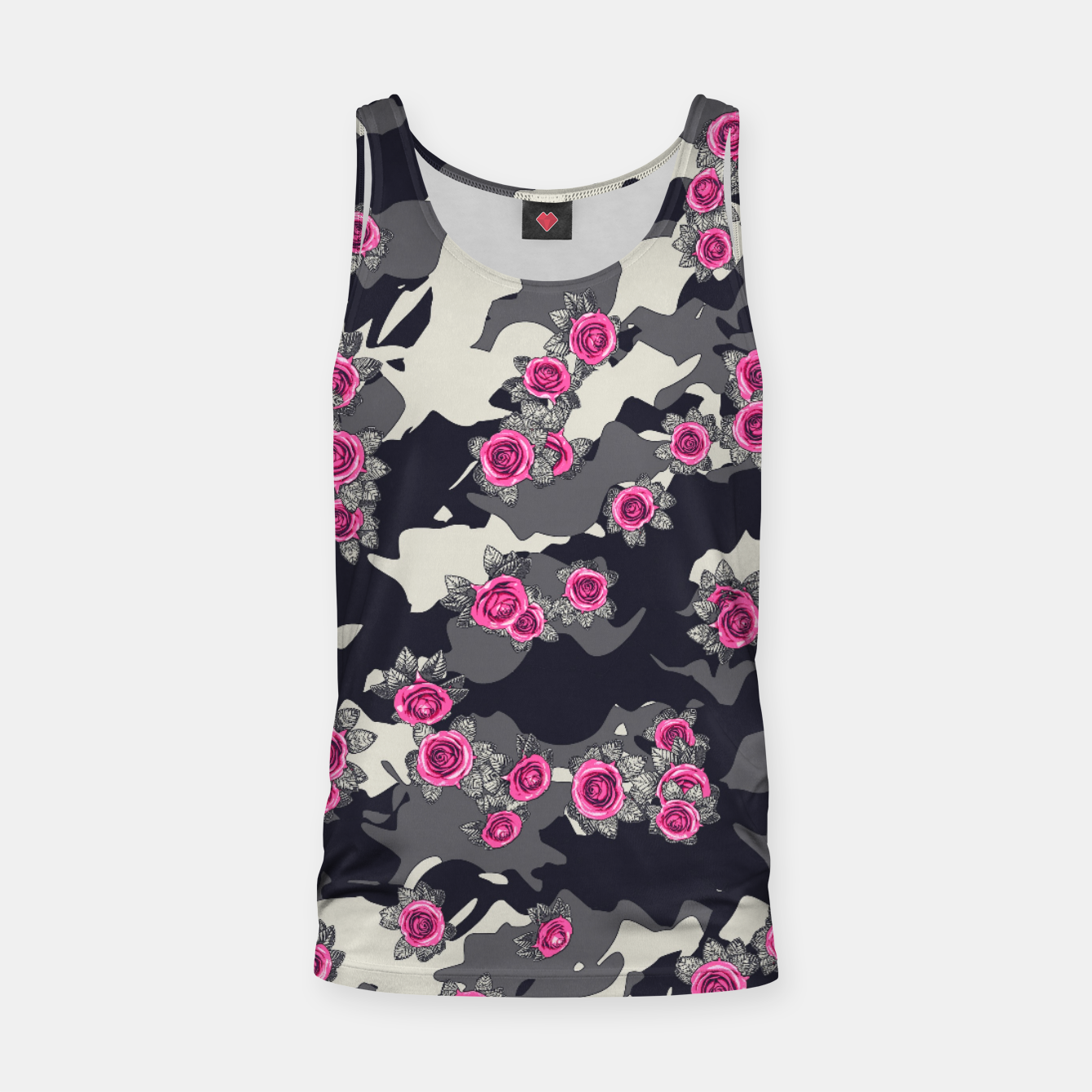 Foto Roses Pink Camo URBAN VINTAGE Tank Top - Live Heroes