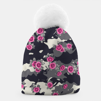 Thumbnail image of Roses Pink Camo URBAN VINTAGE Beanie, Live Heroes