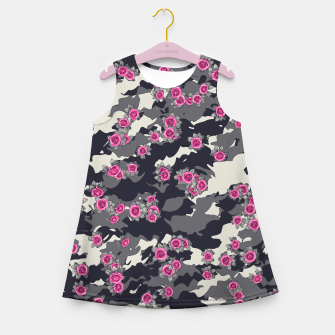Roses Pink Camo URBAN VINTAGE Girl's summer dress Bild der Miniatur