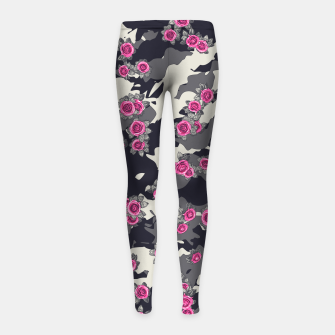 Thumbnail image of Roses Pink Camo URBAN VINTAGE Girl's leggings, Live Heroes