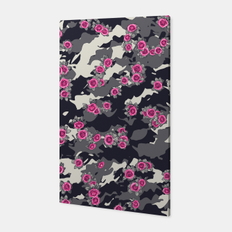Thumbnail image of Roses Pink Camo URBAN VINTAGE Canvas, Live Heroes