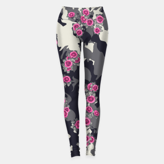 Thumbnail image of Roses Pink Camo URBAN VINTAGE Leggings, Live Heroes