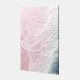 Thumbnail image of Blush Pink Blue Ocean Dream Waves #1 #water #decor #art Canvas, Live Heroes