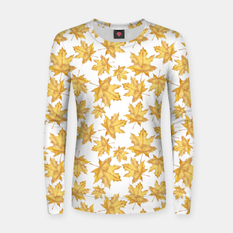Thumbnail image of Autumn maple leaves Women sweater, Live Heroes