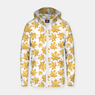 Thumbnail image of Autumn maple leaves Zip up hoodie, Live Heroes