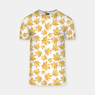 Thumbnail image of Autumn maple leaves T-shirt, Live Heroes