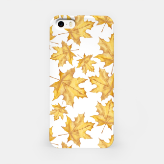 Thumbnail image of Autumn maple leaves iPhone Case, Live Heroes
