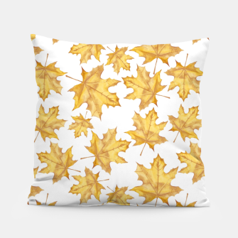Thumbnail image of Autumn maple leaves Pillow, Live Heroes
