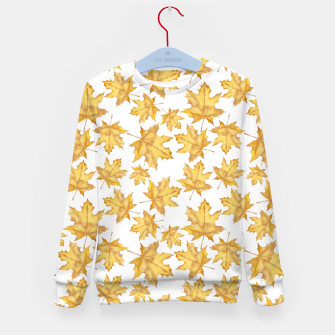 Thumbnail image of Autumn maple leaves Kid's sweater, Live Heroes