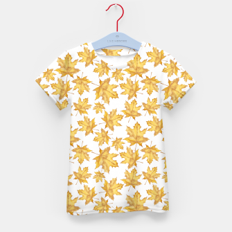 Thumbnail image of Autumn maple leaves Kid's t-shirt, Live Heroes