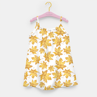 Thumbnail image of Autumn maple leaves Girl's dress, Live Heroes
