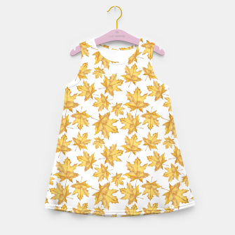 Thumbnail image of Autumn maple leaves Girl's summer dress, Live Heroes