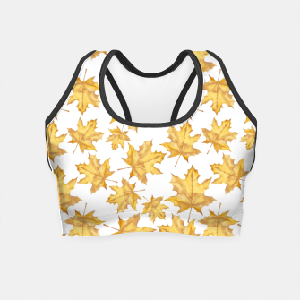 Thumbnail image of Autumn maple leaves Crop Top, Live Heroes