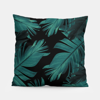 Miniatur Tropical Banana Night Leaves Pattern #1 #tropical #decor #art Kissen, Live Heroes