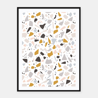 Thumbnail image of Terrazzo 008 Framed poster, Live Heroes