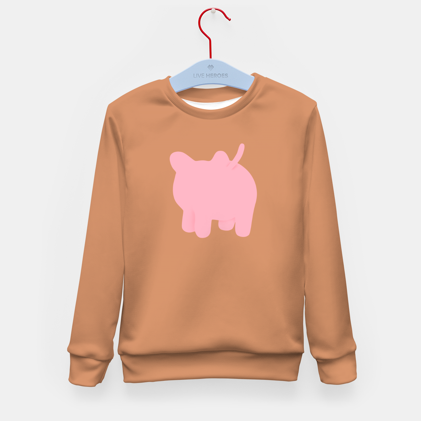 Image of Rosa the Pig Minimal Butt Brown Kid's sweater - Live Heroes