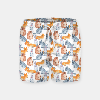Miniatur Forest animals Swim Shorts, Live Heroes