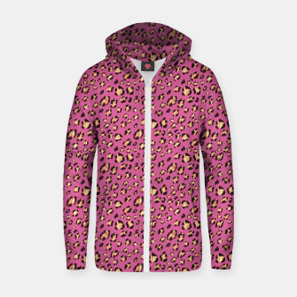 Luxury leopard Zip up hoodie miniature