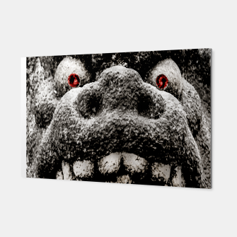 Miniaturka Monster Sculpture Extreme Close Up Illustration Canvas, Live Heroes