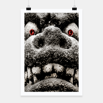 Miniaturka Monster Sculpture Extreme Close Up Illustration Poster, Live Heroes